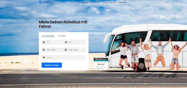 Snapbus – Miete Deinen Reisebus mit Fahrer