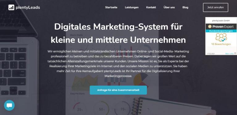 plentyLeads – hat die Mission Euch als Experte bei der Realisierung Eurer Marketingziele zu unterstützen
